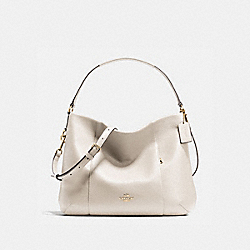 EAST/WEST ISABELLE SHOULDER BAG IN PEBBLE LEATHER - f35809 - IMITATION GOLD/CHALK