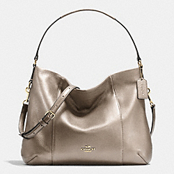 COACH F35809 East/west Isabelle Shoulder Bag In Pebble Leather LIGHT GOLD/METALLIC