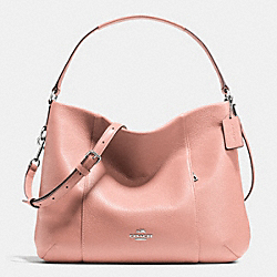 COACH F35809 - EAST/WEST ISABELLE SHOULDER BAG IN PEBBLE LEATHER SILVER/BLUSH