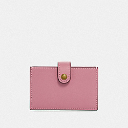 COACH F35841 Accordion Card Case ROSE/BRASS