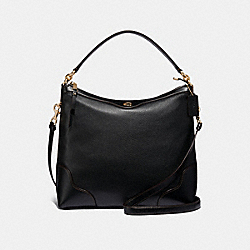COACH F35846 Ivie Hobo BLACK/LIGHT GOLD