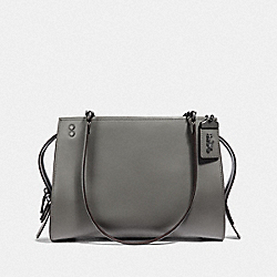 COACH F35863 - ROGUE SHOULDER BAG HEATHER GREY/BLACK COPPER