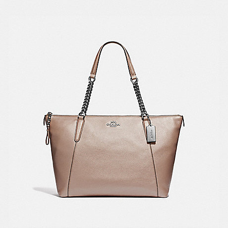latest design arrives best prices COACH F35868 - AVA CHAIN TOTE - PLATINUM/SILVER | COACH HANDBAGS