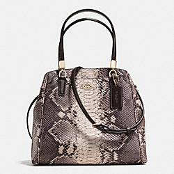COACH F35876 Minetta Crossbody In Python Embossed Leather LIGHT GOLD/GREY MULTI