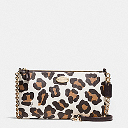 COACH F35878 Quinn Crossbody In Ocelot Print Haircalf LIGHT GOLD/CHALK MULTI