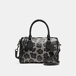 MINI BENNETT SATCHEL WITH OCELOT PRINT - f35899 - SILVER/GREY MULTI