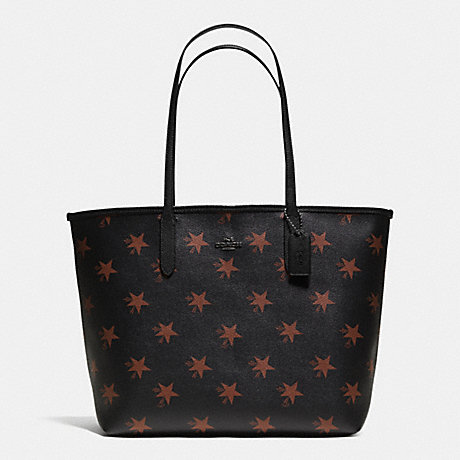 COACH f35917 CITY TOTE IN STAR CANYON PRINT COATED CANVAS QBBMC