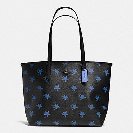 COACH F35917 CITY TOTE IN STAR CANYON PRINT COATED CANVAS QB/BLUE-MULTICOLOR