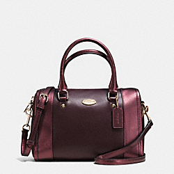 COACH F35921 Mini Bennett Satchel In Bicolor Metallic Crossgrain Leather IME8I