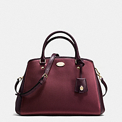 COACH F35923 Small Margot Carryall In Bicolor Metallic Crossgrain Leather IME8I