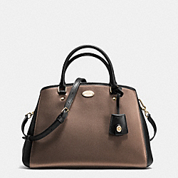 COACH F35923 - SMALL MARGOT CARRYALL IN BICOLOR METALLIC CROSSGRAIN LEATHER IME8Y