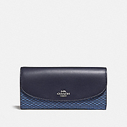 SLIM ENVELOPE WALLET WITH LEGACY PRINT - f35924 - SILVER/NAVY