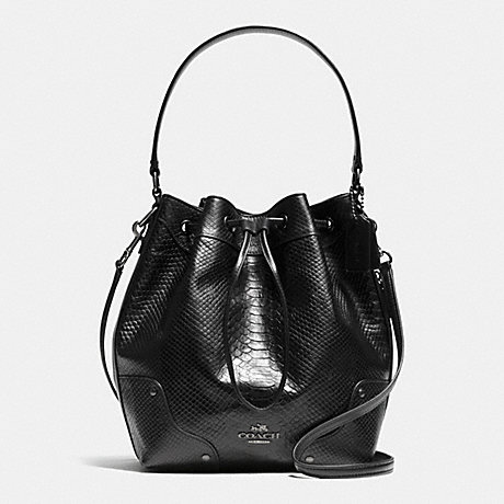 COACH F35928 - MICKIE DRAWSTRING SHOULDER BAG IN EXOTIC LEATHER ...