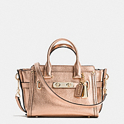COACH SWAGGER 20 IN METALLIC PEBBLE LEATHER - f35990 - LIGHT GOLD/ROSE GOLD