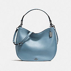 COACH F36026 Mae Hobo In Glovetanned Leather DARK GUNMETAL/CORNFLOWER