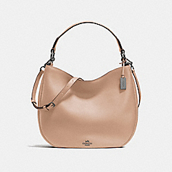 COACH F36026 - COACH NOMAD HOBO IN GLOVETANNED LEATHER DARK GUNMETAL/BEECHWOOD