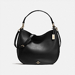 COACH COACH NOMAD HOBO IN GLOVETANNED LEATHER - LIGHT GOLD/BLACK - F36026