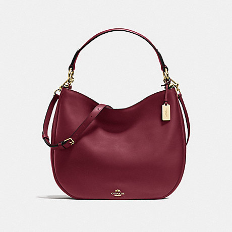 COACH f36026 MAE HOBO BURGUNDY/LIGHT GOLD