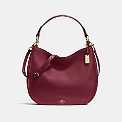 MAE HOBO - f36026 - BURGUNDY/LIGHT GOLD