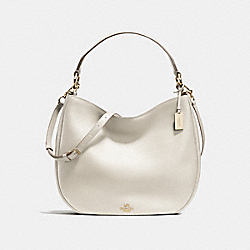 MAE HOBO IN GLOVETANNED LEATHER - f36026 - LIGHT GOLD/CHALK