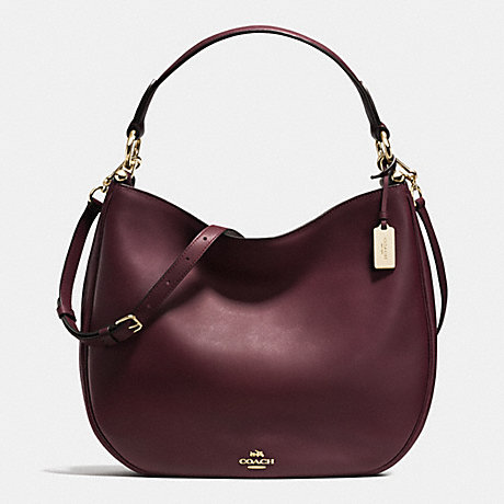 COACH f36026 MAE HOBO OXBLOOD/LIGHT GOLD