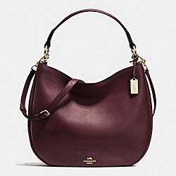 MAE HOBO - f36026 - OXBLOOD/LIGHT GOLD