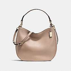 COACH COACH NOMAD HOBO IN GLOVETANNED LEATHER - LIGHT GOLD/STONE - F36026