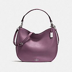 COACH COACH NOMAD HOBO IN GLOVETANNED LEATHER - SILVER/EGGPLANT - F36026