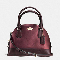 COACH F36054 - MINI CORA DOMED SATCHEL IN BICOLOR METALLIC CROSSGRAIN LEATHER IME8I