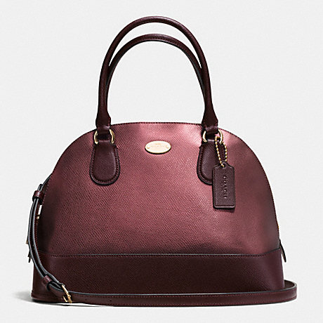 COACH F36057 CORA DOMED SATCHEL IN BICOLOR METALLIC CROSSGRAIN LEATHER IME8I