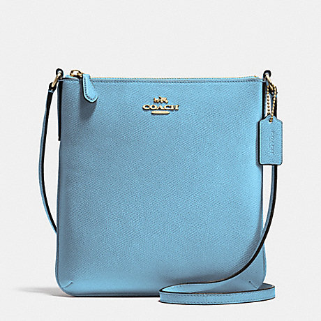 a7d89ca01e658 COACH f36063 NORTH SOUTH CROSSBODY IN CROSSGRAIN LEATHER IMITATION  GOLD BLUEJAY