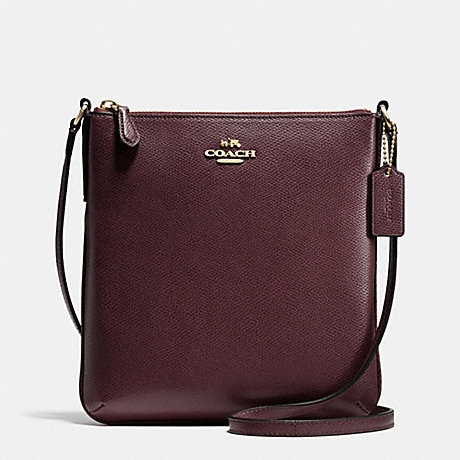 COACH f36063 NORTH/SOUTH CROSSBODY IN CROSSGRAIN LEATHER IMOXB
