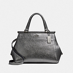 COACH F36086 - GRACE BAG METALLIC GRAPHITE/DARK GUNMETAL