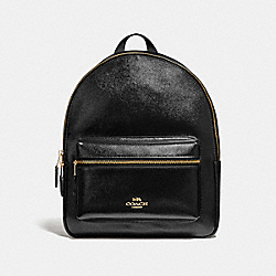 COACH F36088 Medium Charlie Backpack BLACK/LIGHT GOLD
