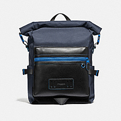 COACH TERRAIN ROLL-TOP BACKPACK - Midnight Navy/Blue - F36090