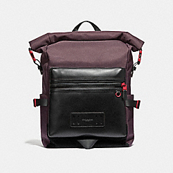 COACH F36090 Terrain Roll-top Backpack OXBLOOD/TRUE RED