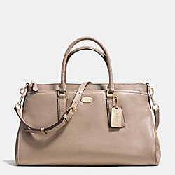 COACH F36125 Morgan Satchel In Suede Exotic Trim Leather LIGHT GOLD/STONE