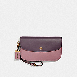 COACH F36136 - CLUTCH IN COLORBLOCK B4/PLUM MULTI
