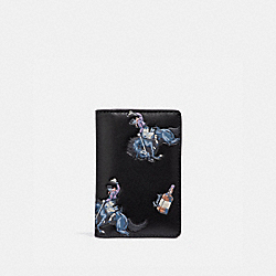 COACH F36172 Card Wallet With Rodeo Print BLACK/BLUE