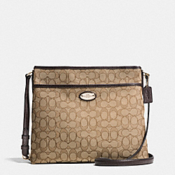 COACH F36182 - FILE BAG IN SIGNATURE  LIGHT GOLD/KHAKI/BROWN
