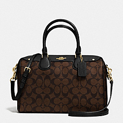 COACH F36187 Bennett Satchel In Signature IMITATION GOLD/BROWN/BLACK
