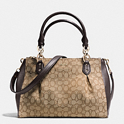 COACH F36200 - COLETTE CARRYALL IN SIGNATURE  LIGHT GOLD/KHAKI/BROWN