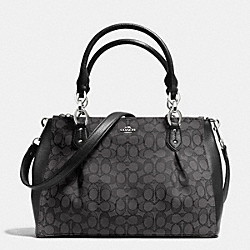 COACH F36200 - COLETTE CARRYALL IN SIGNATURE  SILVER/BLACK SMOKE/BLACK