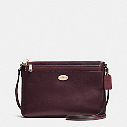 COACH F36210 East/west Pop Crossbody In Bicolor Metallic Leather IME8I