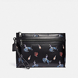 ACADEMY POUCH WITH RODEO PRINT - F36223 - BLACK/BLUE