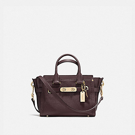 COACH F36235 COACH SWAGGER 20 OXBLOOD/GOLD