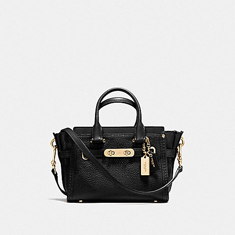 COACH F36235 COACH SWAGGER 20 BLACK/LIGHT GOLD