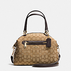 COACH F36311 - PRAIRIE SATCHEL IN SIGNATURE LIGHT GOLD/KHAKI/BROWN