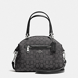 COACH F36311 - PRAIRIE SATCHEL IN SIGNATURE SILVER/BLACK SMOKE/BLACK