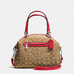COACH F36311 Prairie Satchel In Signature SILVER/KHAKI/TRUE RED